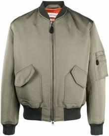 Alexander McQueen logo-print bomber jacket - Green