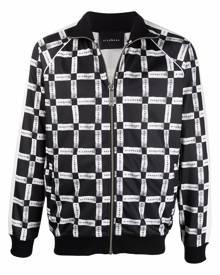 John Richmond check-print bomber jacket - Black