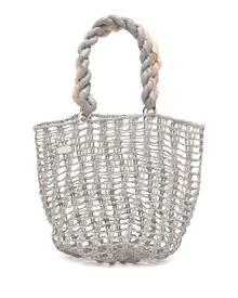 0711 Taia open-woven tote bag - Grey