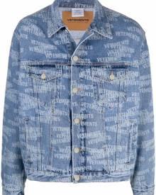 VETEMENTS logo-print denim jacket - Blue