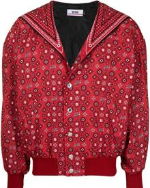 Gcds cat-print floral bomber jacket - Red