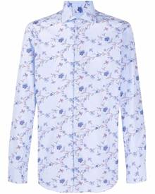 ETRO all-over floral print shirt - Blue