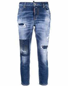 Dsquared2 ripped-detail denim jeans - Blue
