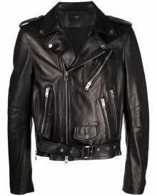 AMIRI leather biker jacket - Black