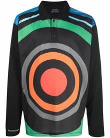Pleasures multicolour-print polo shirt - Black
