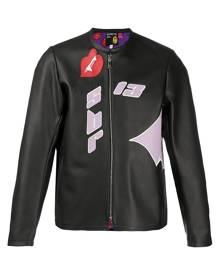 DUOltd bat eco leather bomber jacket - Black