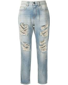 TWINSET ripped cropped jeans - Blue