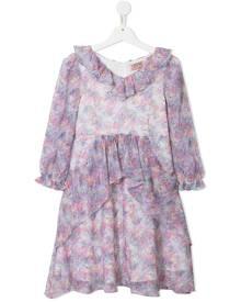 MARCHESA NOTTE MINI girls ruffle floral dress - Purple