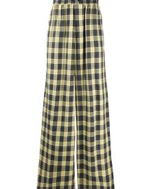DUOltd checked loose fit trousers - Yellow