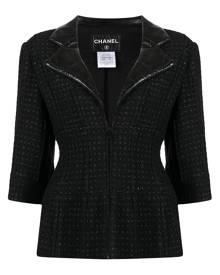 Chanel Pre-Owned single-breasted tweed jacket - Black