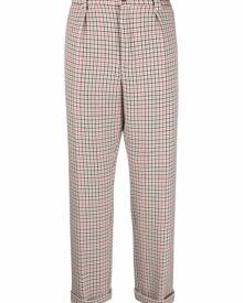 BOSS checked cropped trousers - Neutrals
