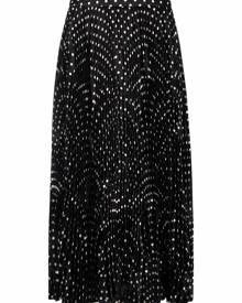 Balenciaga pleated midi skirt - Black