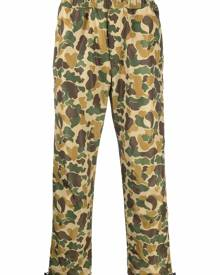 Palm Angels camouflage-print track pants - Green