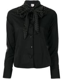 Antonio Marras polka dot pussy-bow shirt - Black