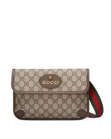 Gucci - GG Supreme belt bag - unisex - Canvas/Leather/Cotton - One Size - Brown