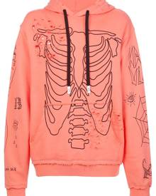 Haculla Sing distressed graphic hoody - Orange
