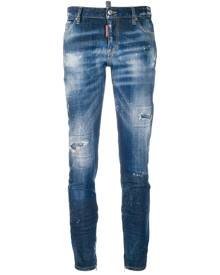 Dsquared2 - Cool Girl cropped jeans - women - Cotton/Calf Leather/Spandex/Elastane - 40, 42, 44, 36, 38 - Blue