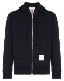 Thom Browne Center-Back Stripe Loopback Hoodie - Blue