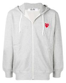 Comme Des Garçons Play zipped hooded jacket - Grey