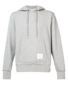 Thom Browne Center-Back Stripe Jersey Hoodie - Grey