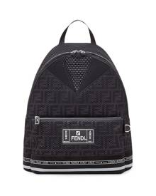 Fendi large FF motif backpack - Black