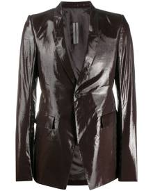Rick Owens shimmer tailored blazer - Brown