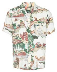 Fake Alpha Vintage 1950s Hawaiian shirt - White