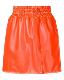 Miu Miu leather flared mini skirt - Orange
