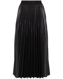 Givenchy logo waistband pleated midi skirt - Black