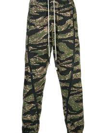Mostly Heard Rarely Seen camouflage track pants - Green