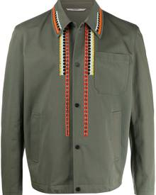 Valentino - embroidered shirt jacket - men - Cotton/Polyester/Viscose - 46, 48 - Green