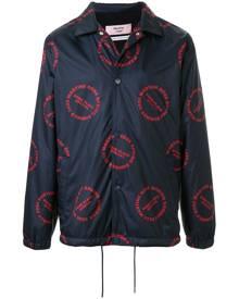 Martine Rose - logo print bomber jacket - men - Nylon - S, M, L, XL - Blue