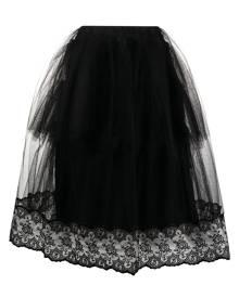 Simone Rocha tulle panelled midi skirt - Black