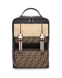 Fendi FF motif backpack - Black