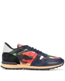 Valentino Garavani Rockrunner camouflage-print sneakers - Black