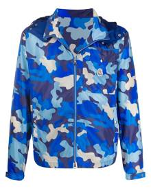 Moncler - camouflage-print windbreaker jacket - men - Polyamide - 2, 3, 4, 5, 1 - Blue