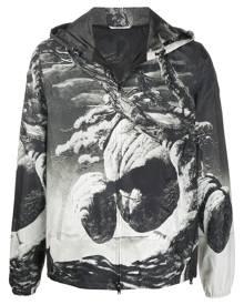 Valentino Floating Island zipped hooded jacket - Black