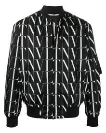 Valentino VLTN print bomber jacket - Black
