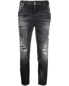 Dsquared2 ripped detailing cropped jeans - Black