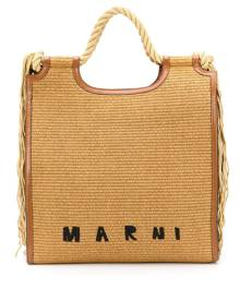 Marni - Marcel North-South tote bag - women - Straw - One Size - Brown