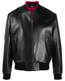Gucci lambskin leather bomber jacket - Black