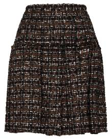 Dolce & Gabbana pleated tweed skirt - Black