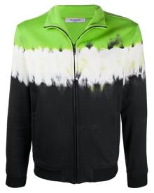 Valentino - tie-dye zipped sweatshirt - men - Cotton/Polyamide - S, M - Green
