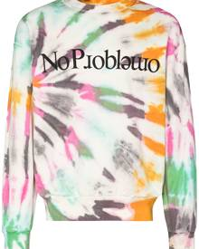 Aries - No Problemo tie-dye sweatshirt - men - Cotton - XS, S, M, L, XL - White