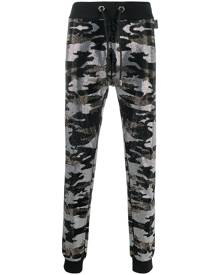 Philipp Plein camouflage-print track trousers - Black