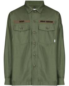 WTAPS military-style long-sleeve shirt - Green