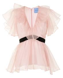Macgraw Chandelier peplum V-neck blouse - Pink