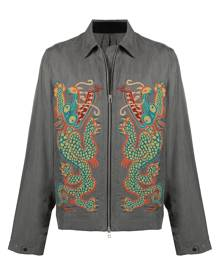 Maharishi dragon-embroidered shirt jacket - Grey