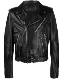 AMIRI leather biker jacket - Black