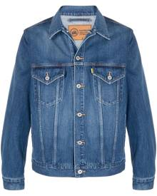 Doublet graphic print denim jacket - Blue
